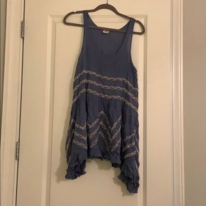 Women's Free People Blue and White top